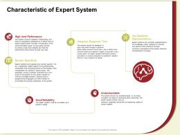 Characteristic Of Expert System Domain Ppt Powerpoint Presentation File Aids