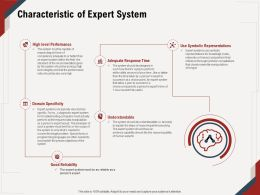Characteristic Of Expert System Level Performance Ppt Powerpoint Presentation File Example