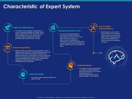 Characteristic Of Expert System Ppt Powerpoint Presentation Portfolio Download