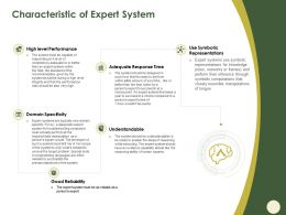 Characteristic Of Expert System Symbolic Ppt Powerpoint Presentation Gallery Skills
