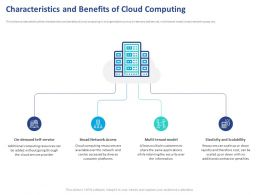 Characteristics And Benefits Of Cloud Computing Ppt Powerpoint Presentation Gallery Template