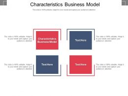 Characteristics Business Model Ppt Powerpoint Presentation File Master Slide Cpb