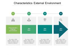 Characteristics External Environment Ppt Powerpoint Presentation Pictures Cpb