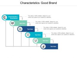 Characteristics Good Brand Ppt Powerpoint Presentation Infographics Graphic Images Cpb