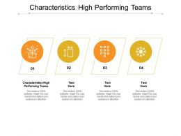 Characteristics High Performing Teams Ppt Powerpoint Presentation Gallery Display Cpb
