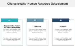 Characteristics Human Resource Development Ppt Powerpoint Presentation Layouts Show Cpb