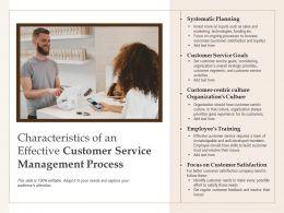 Characteristics Of An Effective Customer Service Management Process