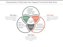 Characteristics Of Big Data Venn Diagram Powerpoint Slide Show