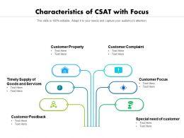 Characteristics Of CSAT With Focus