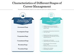 Characteristics Of Different Stages Of Career Management