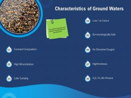 Characteristics Of Ground Waters Little Ppt Powerpoint Presentation Format