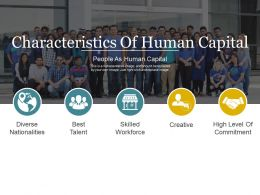 Characteristics Of Human Capital Powerpoint Slide Influencers