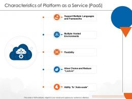 Characteristics Of Platform As A Service PaaS Cloud Computing Ppt Topics
