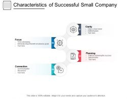 Characteristics Of Successful Small Company