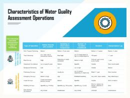 Characteristics Of Water Quality Assessment Operations Pollutant Ppt Powerpoint Presentation Gallery Show