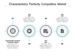Characteristics Perfectly Competitive Market Ppt Powerpoint Presentation File Cpb