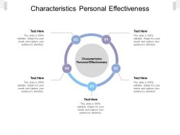 Characteristics Personal Effectiveness Ppt Powerpoint Presentation Icon Example Cpb
