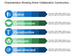 Characteristics Showing Active Collaborative Constructive And Authentic