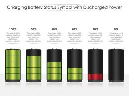 Charging Battery Status Symbol With Discharged Power