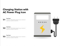 Charging Station With AC Power Plug Icon