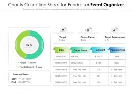 Charity Collection Sheet For Fundraiser Event Organizer
