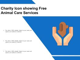 Charity Icon Showing Free Animal Care Services
