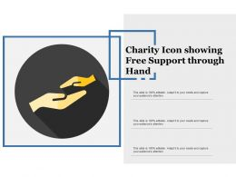 Charity Icon Showing Free Support Through Hand