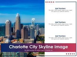 Charlotte City Skyline Image Powerpoint Presentation Ppt Template