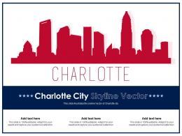 Charlotte City Skyline Vector Powerpoint Presentation Ppt Template