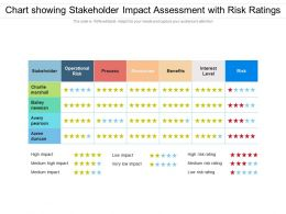 Chart Showing Stakeholder Impact Assessment With Risk Ratings