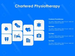 Chartered Physiotherapy Ppt Powerpoint Presentation Inspiration Visual Aids