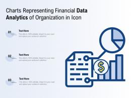 Charts Representing Financial Data Analytics Of Organization In Icon