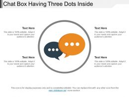 Chat Box Having Three Dots Inside