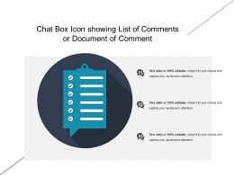 Chat Box Icon Showing List Of Comments Or Document Of Comment