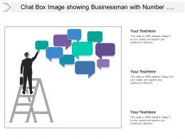 Chat Box Image Showing Businessman With Number Of Comment Boxes