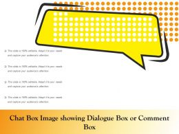 Chat Box Image Showing Dialogue Box Or Comment Box