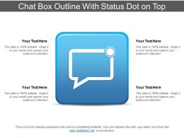 Chat Box Outline With Status Dot On Top