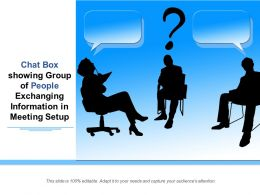 Chat Box Showing Group Of People Exchanging Information In Meeting Setup