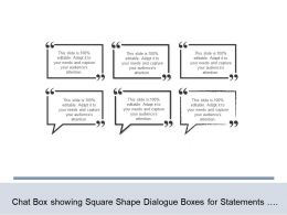 Chat Box Showing Square Shape Dialogue Boxes For Statements Use To Communicate