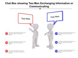 Chat Box Showing Two Men Exchanging Information Or Communicating