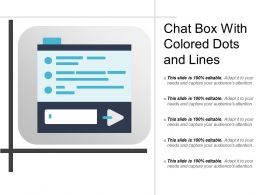 Chat Box With Colored Dots And Lines