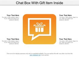 Chat Box With Gift Item Inside