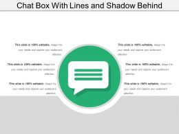 Chat Box With Lines And Shadow Behind