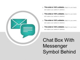 Chat Box With Messenger Symbol Behind