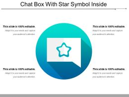 Chat Box With Star Symbol Inside