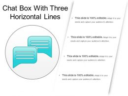 Chat Box With Three Horizontal Lines