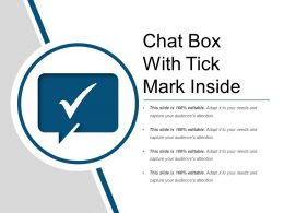 Chat Box With Tick Mark Inside