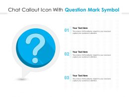 Chat Callout Icon With Question Mark Symbol