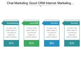Chat Marketing Good Crm Internet Marketing Responsible Marketing Cpb