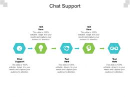Chat Support Ppt Powerpoint Presentation Layouts Shapes Cpb